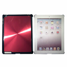 iPad 3 Red Quality Shining Aluminium Hard Back Case Cover for Elegant Look