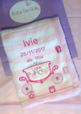 Personalised Princess Baby Blanket Embroidered Baby Blanket Princess Baby gift