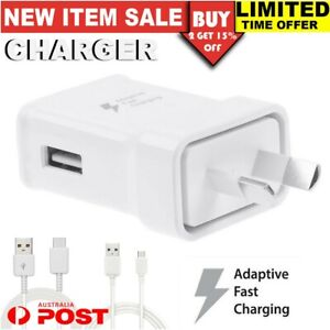 For SAMSUNG S7 S6 Edge Note 4 5 C9 9V ADAPTIVE FAST Charger AC Wall Adaptor New