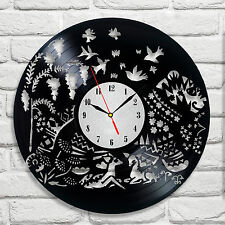 Tigre asiatique design vinyle horloge murale maison chambre salon bureau salle de jeux