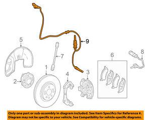 MERCEDES OEM ABS Anti-lock Brakes-Front Speed Sensor 1669054002