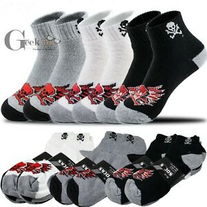 New Lot 3-12 Pairs Mens Ankle Quarter Crew Cotton Low Cut Socks Size 9-11 10-13