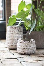 Übertopf Pot Vase Terracotta IB Laursen Creme Tine K Ethno Bohemain Home Gr.2