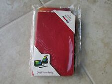 RooCase Google Nexus 7 FHD Leather Dual View Folio Case BOOK Stand RED