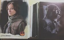 2016 Star Wars Rogue One Series 1 Master Set- Base, Inserts & Stickers 173 Cards