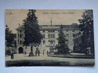 SCHIO piazza statuto animata vecchia cartolina