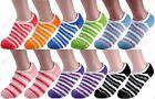 Non Skid 6-12 Pairs Womens Soft Cozy Fuzzy Warm Low Cut Slipper Socks Size 9-11