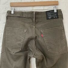 LEVI'S 511 Slim Fit Tapered Leg Brown Denim Jeans W34 L32