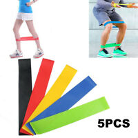 5PCS Sport Resistance Loop Band Exercise Rubber Yoga Bands Training US Warehouse