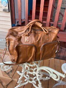 Vintage Men Real Leather Large travel duffel weekend bag Handmade luggage Gym
