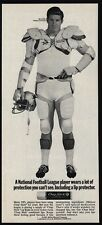 1969 BOB LILLY - DALLAS COWBOYS Football - CHAP STICK - VINTAGE AD