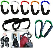 Large Buggy Clips Hook Pram Pushchair Shopping Bag Carry Clip Strong Material