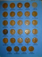 1909-1940 Lincoln Cent Collection 28 Coins Page 3 Whitman No 1 Folder(NO FOLDER)
