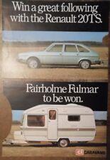 RENAULT 20TS orig 1979 Publicity Brochure - Win a Caravan