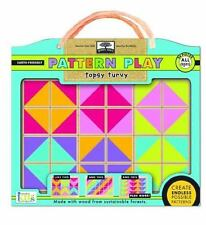 green start pattern play wooden puzzles: topsy turvy (mix and match mosiac puzz