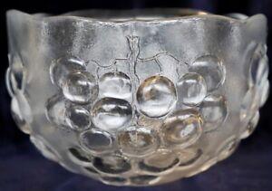 Vintage Retro KOSTA BODA Grape (Kosgrap) 22 cm Crystal Bowl, Ann Warff, Sweden