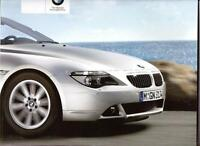 BMW 6  SERIES COUPE AND CONVERTIBLE SALES BROCHURE 2007