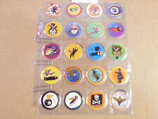 INSIGNIA CAPS/POGS COMPLETE SET OF ALL 40 SUPER RARE 1994 by CHROMA CONCEPTS INC
