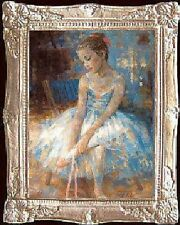 Young Ballerina Miniature Dollhouse Picture - Made In Usa. Fast Delivery