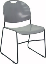 Lot of 10 Gray Polypropylene Stack Side Guest Chairs