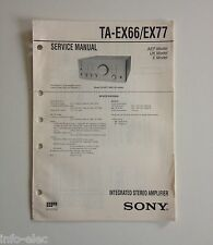 Schema SONY - Service Manual Integrated Stereo Amplifier TA-EX66 TA-EX77