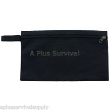 Extra Large Multi Purpose Black Zipper Bag with Clip - First Aid Survival Kits