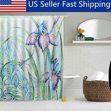 60 X 70Ft Dragonfly Flower Art Polyester Fabric Shower Curtain Bathroom Decor