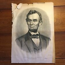 Abraham Lincoln 1865 Lithograph USA The Martyr President Currier & Ives 28x20