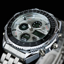 INFANTRY Mens Digital Quartz Wrist Watch Chronograph Sport Stainless Steel UK