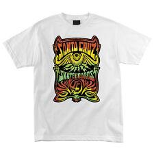 Santa Cruz Rasta Hallucinate Skateboard T Shirt White Medium