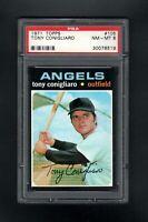 1971 TOPPS #105 TONY CONIGLIARO LOS ANGELES ANGELS PSA 8 NM/MT SHARP CARD!