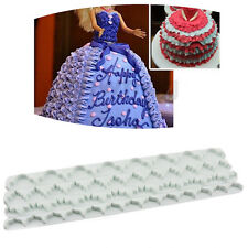 4pc Wihte Cake Fondant Edge Frill Ribbon Embosser Cutter  Decor Fondant MUTSG