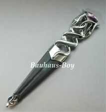 KILT SGIAN DUBH DUMMY SAFETY AMETHYST PURPLE HILT HIGHLAND SERPENT CHROME FINISH