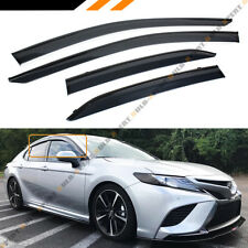 FOR 2018 TOYOTA CAMRY CLIP-ON TYPE BLACK TRIM WINDOW VISOR RAIN GUARD DEFLECTOR