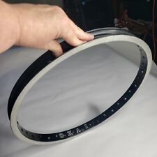 OLD SCHOOL BMX RIM UKAI BLACK ANODIZED 36 HOLE 20 IN VINTAGE RARE HTF