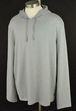 JOHN VARVATOS Light Gray SOLID Long Sleeve Knit Hoodie XXL NWT
