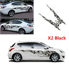 2Pcs Waterproof Flame Graphics Car Decal Vinyl Graphics Side Body Stickers Decor