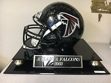 2003 ATLANTA FALCONS TEAM SIGNED FULL-SIZE HELMET W/COA VICK