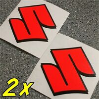 Suzuki S Logo neon Red decals 1000 sticker 1100 gsxr 85 rmz 600 gsxs 750 drz 450