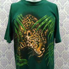 Vtg 80s Tiger T Shirt Harlequin Nature Graphics Adult Sz L 50/50 Single Stitch