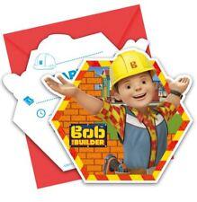 6pk Bob the Builder Invitations & Envelopes Children's Birthday Party Stationary