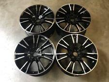 "19"" 706M F90 M5 Style Alloy Wheels Gloss Black Machined BMW E90 E91 E92 E93"