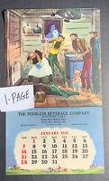 1951 Pabst Beer Calendar Page Sign Dayton Ohio Paul Webb Mountain Hillbilly Boys