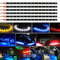 6pc 12V Waterproof Flexible 12''/15 LED Strip Underbody Light For Car Motorcycle