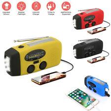 Solar Hand Crank Emergency Dynamo AM/FM/NOAA Weather Radio LED Torch USB Charger