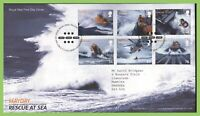 G.B. 2008 Rescue at Sea set on Royal Mail First Day Cover, Tallents House