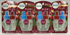 4 Febreze Fresh Twist Cranberry Plug In Air Freshener Scented Oil Refill