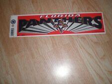 Florida Panthers 3 x 11 Bumper Sticker