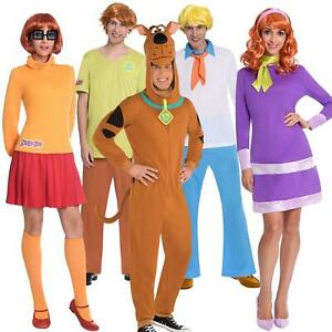 Official Adult's Scooby Doo Fred Velma Shaggy Daphne Gang Fancy Dress Costumes