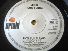 """JOHN PAUL YOUNG - LOVE IS IN THE AIR     7"""" VINYL"""